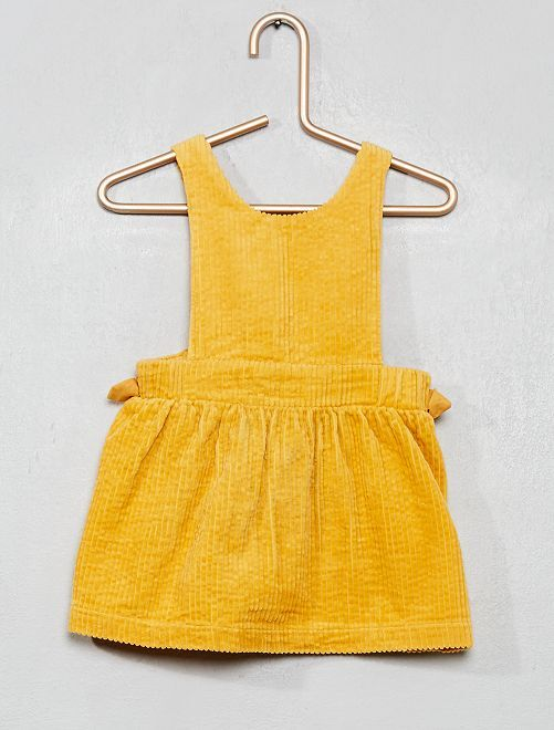 Robe chasuble en velours                                         jaune