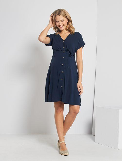 Robe chemise de maternité                                             bleu marine