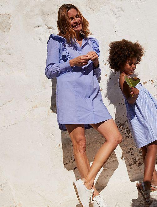Robe chemise éco-conçue                             bleu
