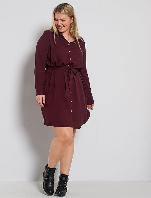Robe chemise fluide                                                                 rouge