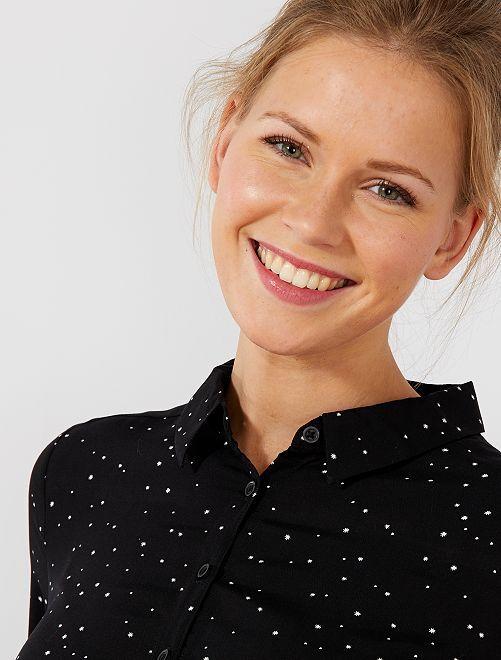 Robe chemise imprimé 'étoiles'                             noir étoiles Femme