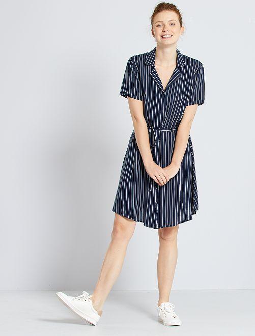 Robe chemise imprimée 'JDY'                     marine rayé