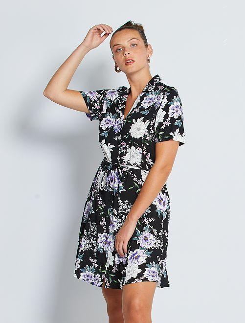 Robe chemise imprimée 'JDY'                                                     noir fleuri