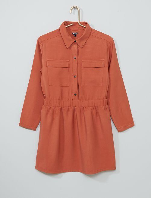 Robe chemise                                                                 orange rouille
