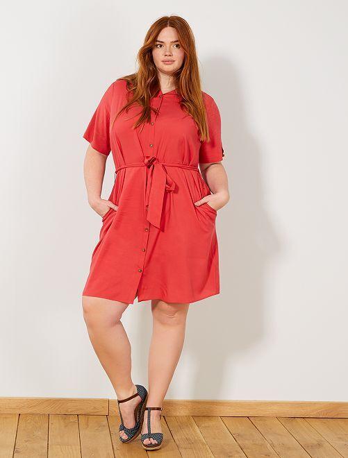 Robe chemise imprimée                     rouge Grande taille femme