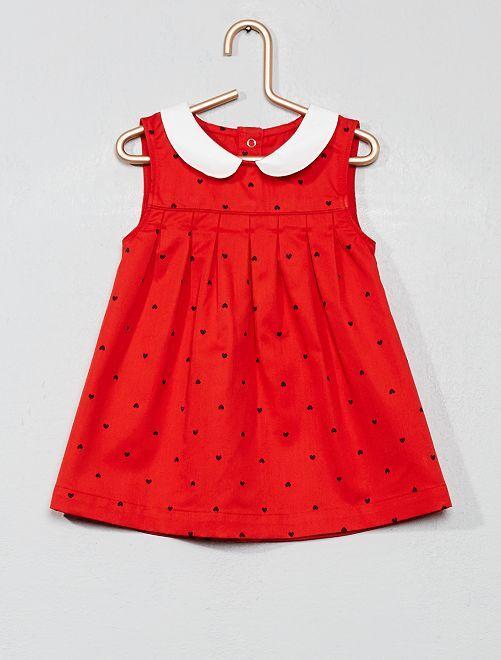 Robe claudine 'cœur'                     rouge