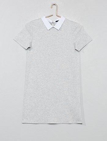 6a4f4d5695ccc Fille 10-18 ans - Robe col chemise - Kiabi