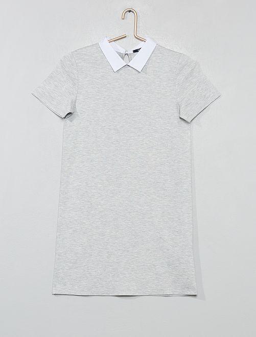 Robe col chemise                                         gris