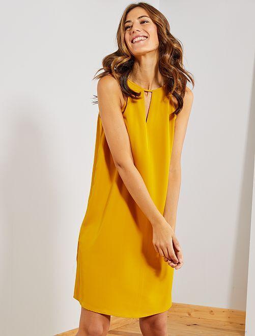 Robe courte à emmanchures américaines                                                     jaune