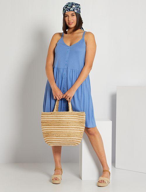Robe courte à fines bretelles                                         bleu