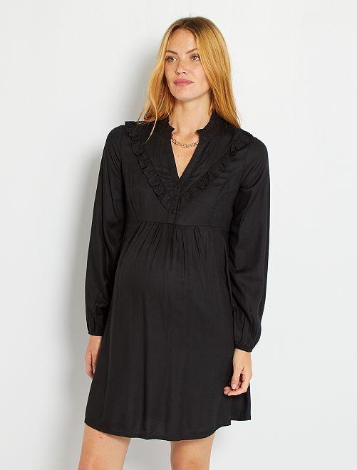Robe courte de maternité                                                     noir