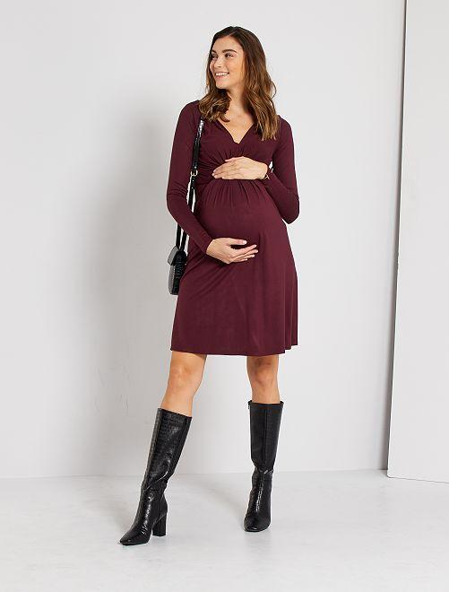Robe courte de maternité                                                     rouge