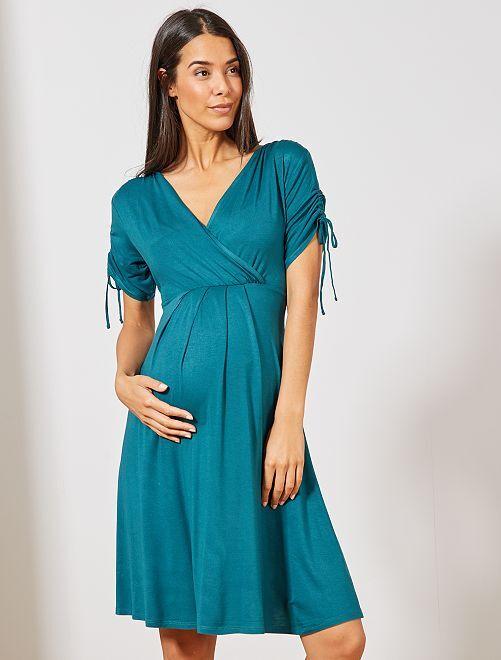 Robe courte de maternité                                                     vert profond Vêtement de grossesse