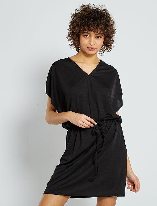 Robe courte détail doré                             noir