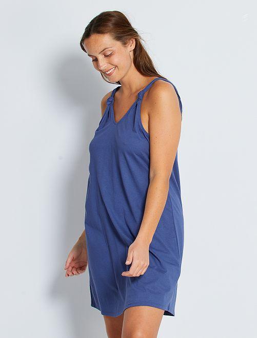 Robe courte 'éco-conception'                                             bleu cobalt