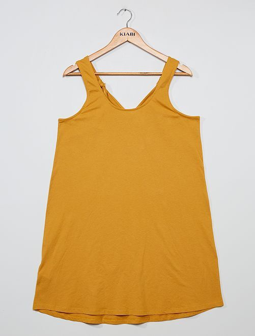Robe courte 'éco-conception'                                                                             jaune