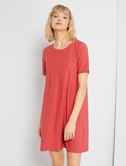 Robe courte éco-conçu                                                                 rose grenat