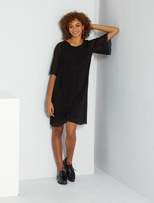 Robe courte façon voile                             noir