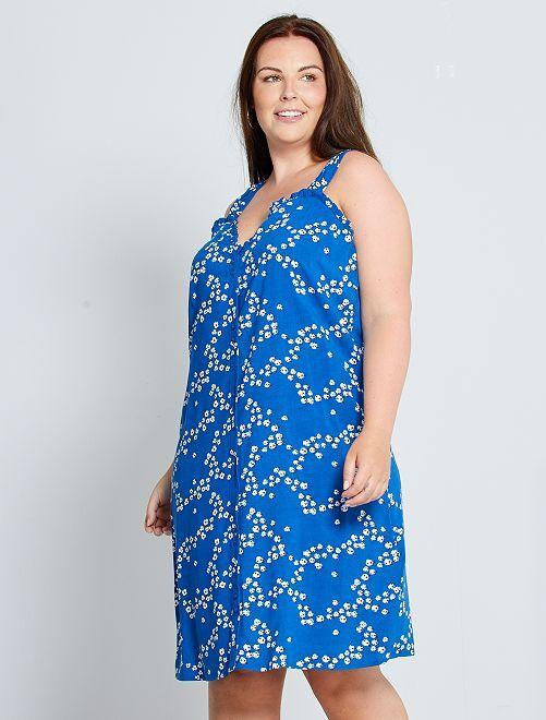 Robe courte fleurie                                         bleu fleuri