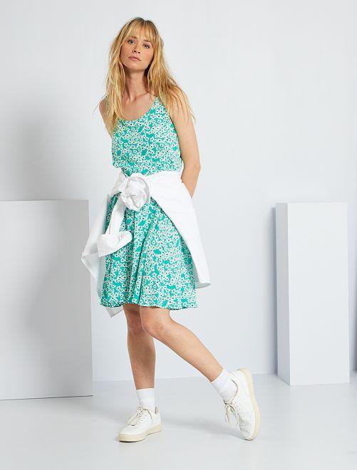 Robe courte fleurie 'JDY'                                         vert