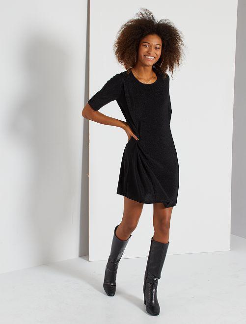 Robe courte fluide                                                     noir