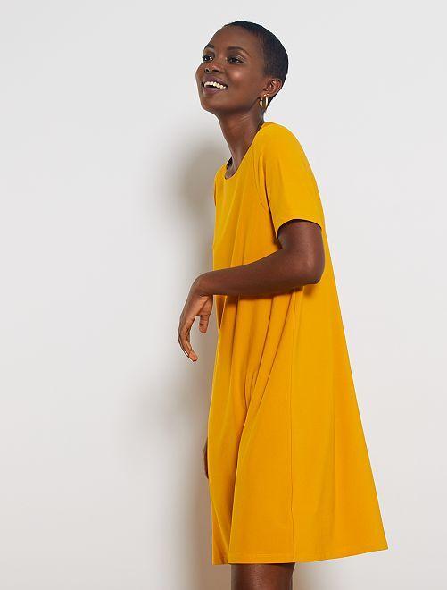 Robe courte forme T-shirt                                                                             jaune