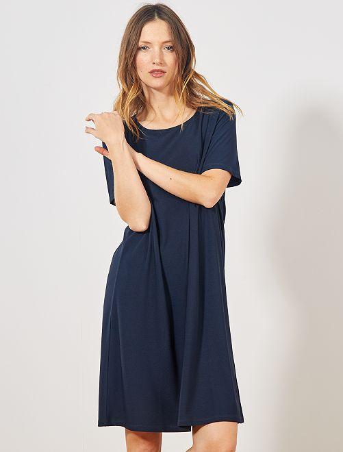 Robe courte forme T-shirt                                                                             marine