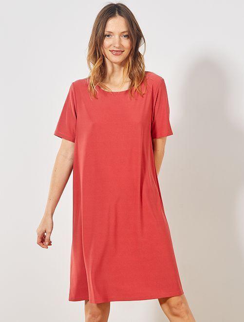 Robe courte forme T-shirt                                                                             rose