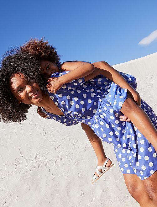 Robe courte imprimée                                                                 bleu