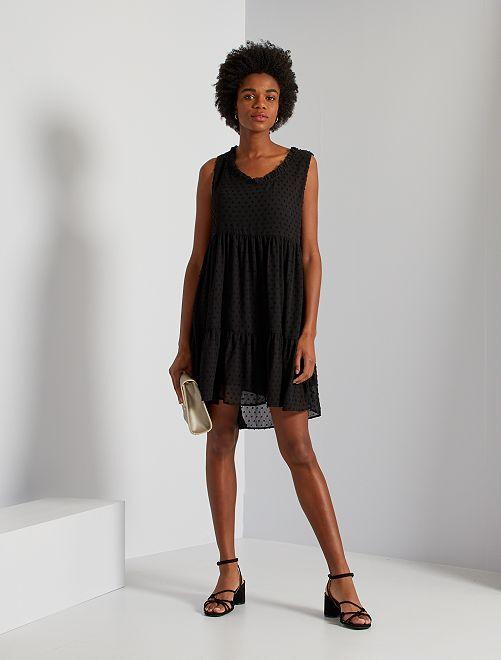 Robe courte plumetis 'JDY'                             noir