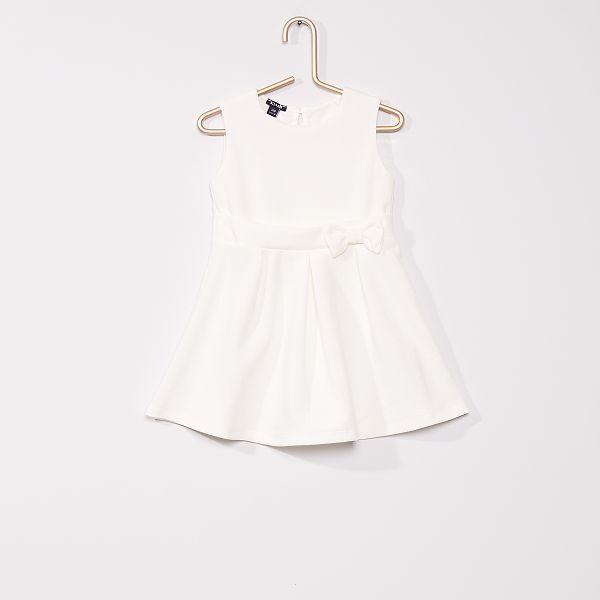 Robe De Ceremonie Bebe Fille Blanc Ecru Kiabi 10 80