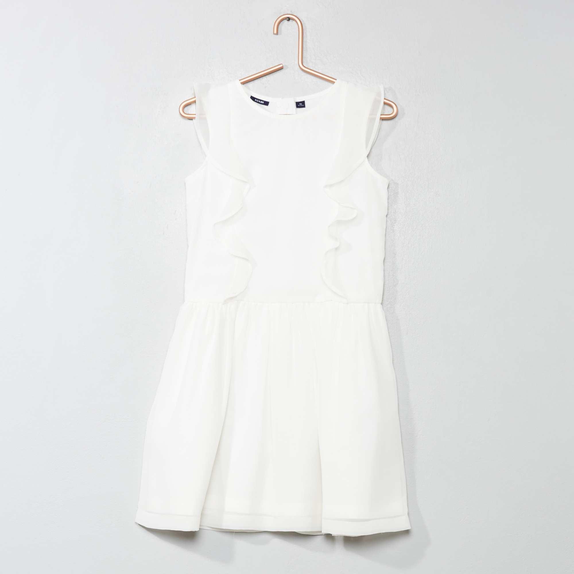 d5eb77c56433c Robe de cérémonie volantée Fille - blanc - Kiabi - 15