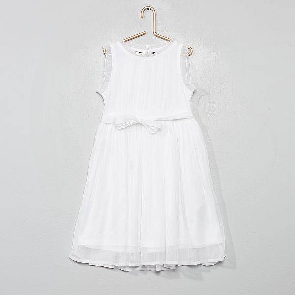 Robe de cortège en mousseline Fille - blanc
