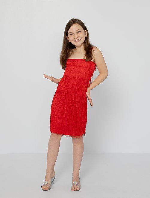 Robe de déguisement Charleston                             rouge