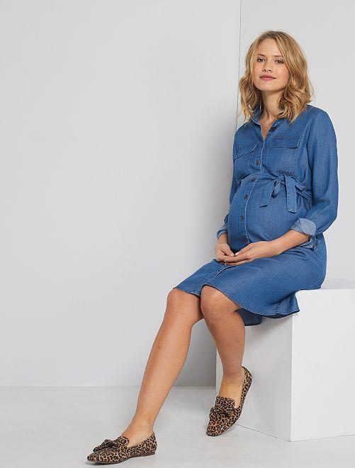 Robe de grossesse                                         bleu stone