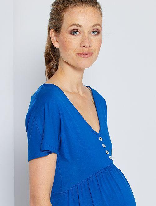 Robe de maternité                             bleu