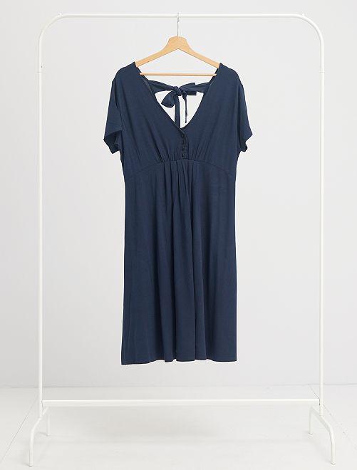 Robe de maternité courte                                                     bleu marine