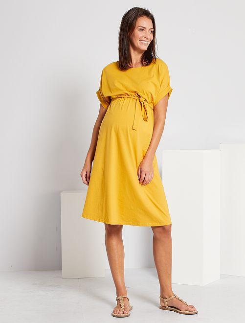 Robe de maternité éco-conçue                                                     jaune