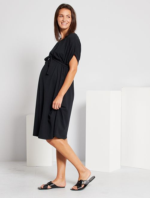 Robe de maternité éco-conçue                                                     noir