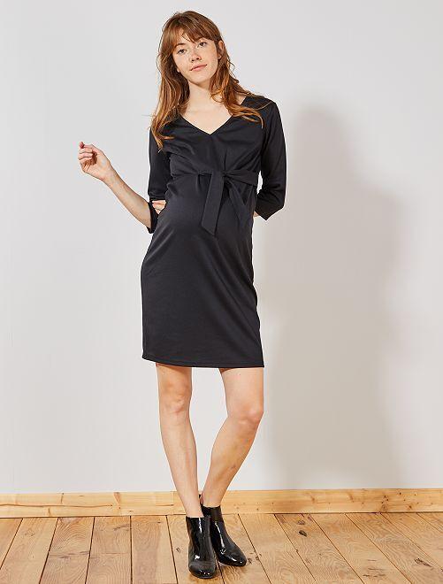 Robe de maternité en maille Milano                                         noir Vêtement de grossesse