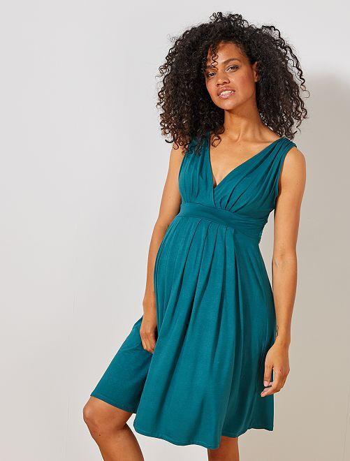 Robe de maternité esprit babydoll                                                                                                     vert profond Femme