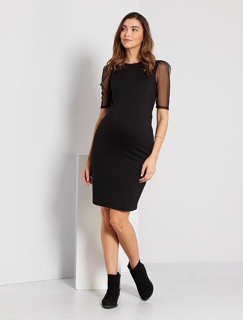 Robe de maternité maille milano                             noir