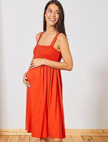 0f43222e454 Maternité - Robe de maternité smockée - Kiabi