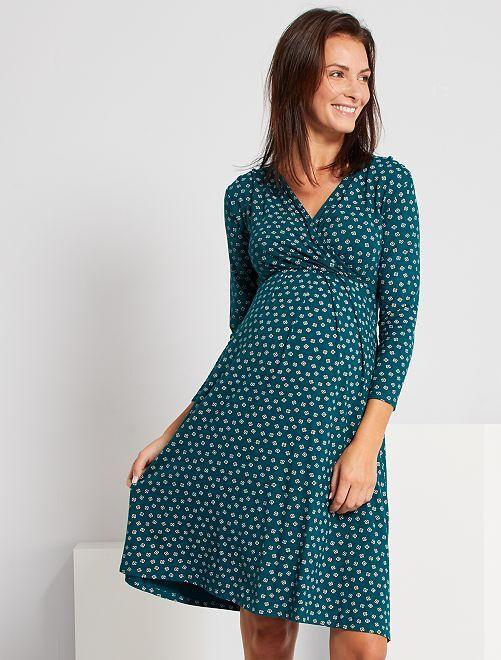 Robe de maternité                                         vert imprimé