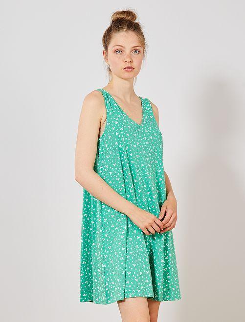 Robe de plage imprimée                                         vert Femme
