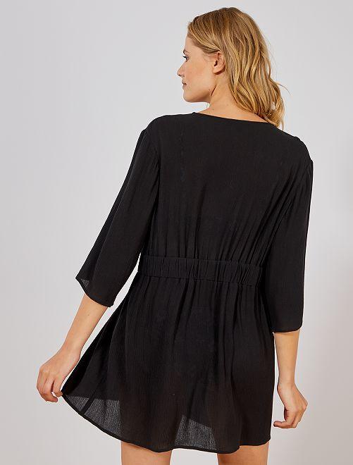 bb18ae5ddd Robe de plage Femme - noir - Kiabi - 16,00€