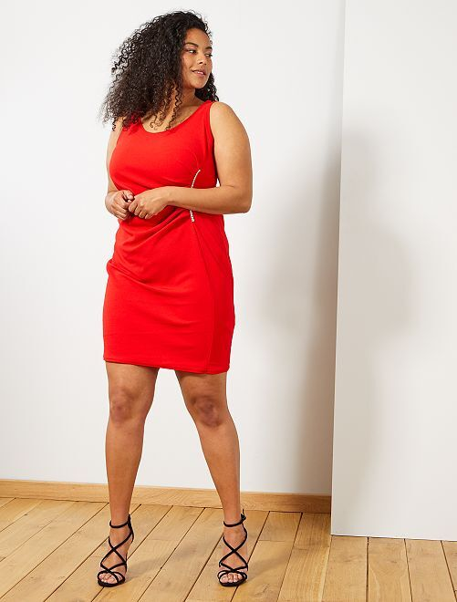 Robe de soirée avec bijou                                         rouge Grande taille femme