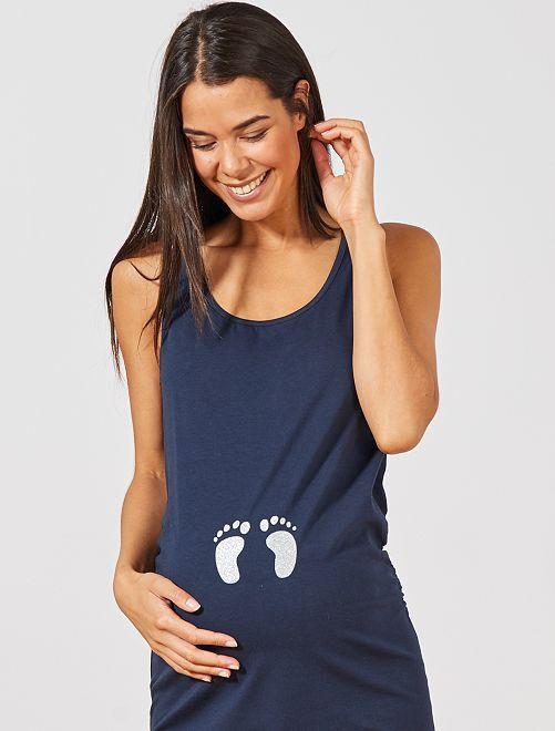 Robe débardeur de maternité                                         marine Vêtement de grossesse