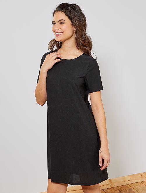 fb025c26790 Robe droite fluide Femme - noir - Kiabi - 10