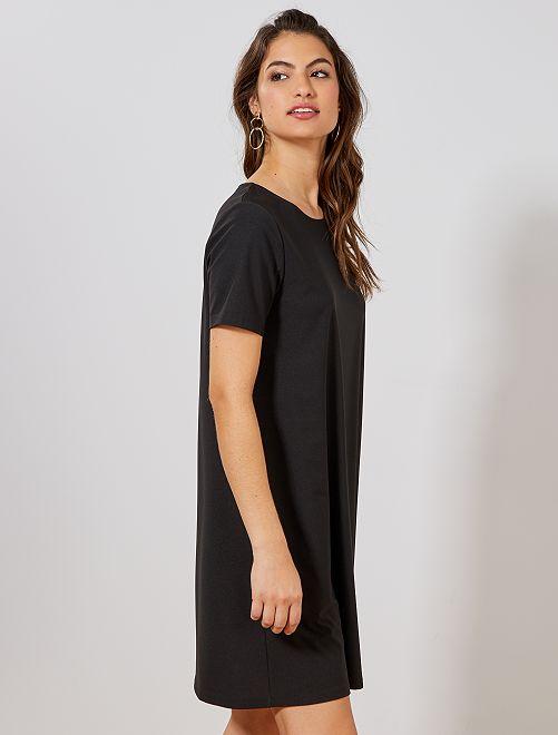 da1ae1793b2 Robe droite fluide Femme - noir - Kiabi - 10
